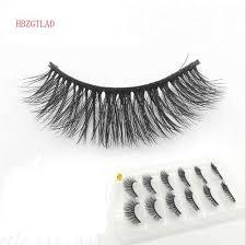 2018 NEW 6 <b>pairs</b> 100% Real <b>Mink</b> Eyelashes 3D Natural False ...