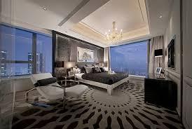 modern master bedroom with chrome varnished chandelier over king size bed bedroom modern master bedroom furniture