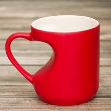 <b>Кружка хамелеон</b> с ручкой в виде <b>сердца</b> красная <b>ЭВРИКА</b> ...