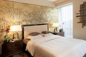 japanese style bedroom interior wall mural dark wood furniture bedroom interior furniture