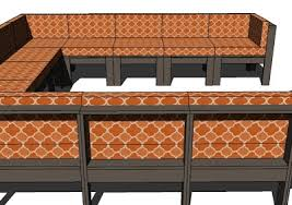 simple modern outdoor sectional armless section build patio furniture