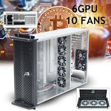 6 GPU 4U <b>Rackmount</b> Miner Mining Frame Mining <b>Server</b> Case with ...
