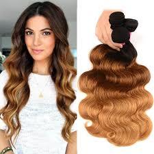 UNice 3 <b>Bundles</b> Brazilian <b>Ombre</b> Body Wave Human Hair   UNice ...