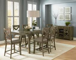 Grey Dining Room Table Sets Standard Furniture Omaha Grey Counter Height 7 Piece Dining Room