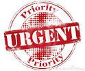Urgently