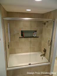 bathroom picturesque sliding glass shower cubicle with white tubs and stainless head shower on grey ceramic bathroom lighting ideas small bathrooms