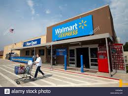 walmart exterior stock photos walmart exterior stock images alamy a w exits a walmart express store in gentry arkansas u s a stock image