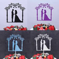 Bike Balloons Bride Groom Mr & Mrs <b>Love Wedding Cake Flags</b> ...