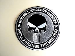 1x Marvel <b>Punisher Skull Patches Embroidered</b> Cloth Applique ...