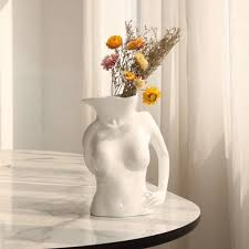 <b>Nordic</b> Style Resin Body Art Vase <b>Creative Living Room Bedroom</b> ...