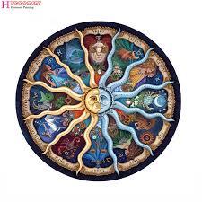 12 zodiac Mandala <b>Diamond</b> Cross Stitch Embroidery Full Square ...