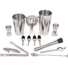 <b>14PC Bar Cocktail Shaker</b> Mixer Bartender Martini Tool Jigger Kit ...