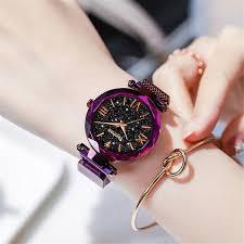 Luxury <b>Women Watches</b> Magnetic Starry Sky <b>Female</b> Clock Quartz ...