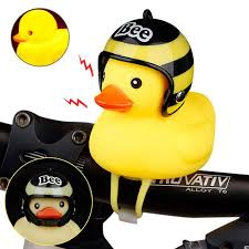 Eentem 2 in 1 <b>Bicycle Bike</b> Warning Light Horn <b>Bell</b> Cute Duck ...