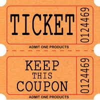 """Stock Raffle Roll Tickets Ticket 2"""" x 2"""" ..."""