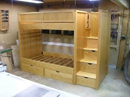 bunk bed plans bunk beds with stairs by dshute lumberjockscom bunk bed steps casa kids