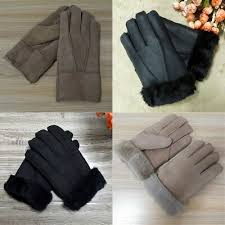 <b>High Quality Leather</b> Gloves For Men <b>Fur</b> Warm <b>Leather Sheepskin</b> ...