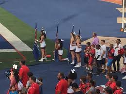 howard penn cheerleaders join protest movement members of the cheerleading squad at howard university dropped to their knees during the playing of the national anthem before a football game this weekend
