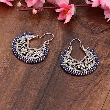 <b>TopHanqi</b> Newest <b>Indian Jhumkas Jewelry</b> Handmade Bohemian ...