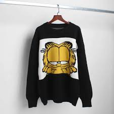 <b>New</b> Korean <b>Cartoon</b> Image Garfield <b>Women's Sweater Cartoon</b> ...
