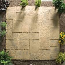 patio slab sets: minster paving random patio kit  sq mtr autumn brown