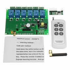 <b>dc 12v</b> 6 channel diy receiver relay module board with wireless <b>rf</b> ...