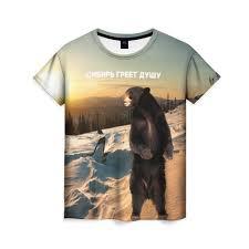 Женские <b>футболки</b> Медведи c принтом | Купить Женские ...