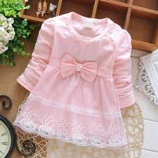 Newborn Spring Long Sleeve pearl <b>Lace Bow</b> Baby Party Birthday ...