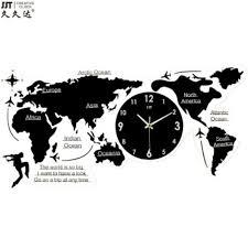 European <b>world map wall</b> Silent Clock on The <b>Wall</b> Nordic <b>Simple</b> ...