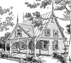 Sunset House Plans   Gothic Revival House PlansView All Plans