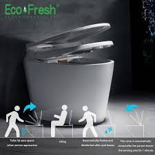 <b>Ecofresh</b> Smart Toilet Auto Toilet Lid And Seat Flip Integrated ...