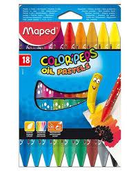 Купить <b>масляная</b> краска-<b>пастель Maped Color</b>'peps Oil Pastel 18 ...
