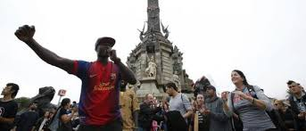 Image result for quitar la estatua de colon en barcelona