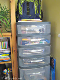hillary chybinski how to organize school papers and homework the ultimate homework cart everything you need to get homework done int he place