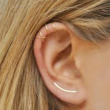 <b>Korean simple geometric earrings</b> wind statement temperament big ...