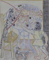 'Still <b>Life with Cat</b> and Child', John Craxton, 1959 | Tate