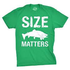 Crazy Dog T-Shirts Size Matters Fish T Shirt Funny ... - Amazon.com