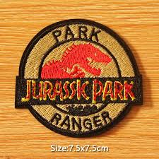 <b>Prajna Jurassic Park</b> Embroidery <b>Patch</b> DIY Hook Loop <b>Patch</b> ...