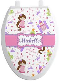 princess print toilet seat decal personalized potty patty princess print toilet seat decal personalized