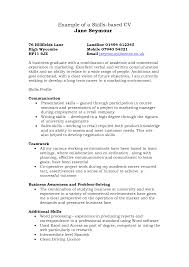 sample cv skills cover letter resume examples sample cv skills resume skills list of skills for resume sample resume skills based resume template