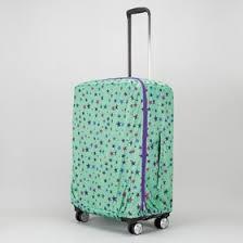 <b>Чехол для чемодана</b>, расширение по периметру, цвет салатовый