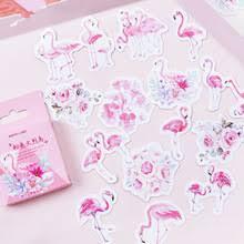 45 шт./компл. милые животные <b>розовая бумага</b> с Фламинго ...