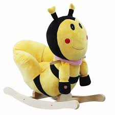 baby nursery cool bee animal rocking horse bee plush with wood core animal rocking chair sturdy baby nursery cool bee animal rocking horse