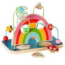 """howa """"my rainbow"""" dexterity <b>toy</b> with <b>bead maze</b> and wooden <b>puzzle</b> ..."""