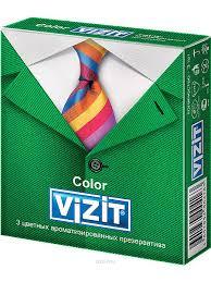 <b>Презервативы VIZIT</b> Color Цветные ароматизированные <b>3</b> шт ...