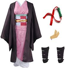 Demon Slayer Cosplay Japanese Traditional Kimono ... - Amazon.com
