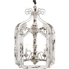 amelie white wash shabby chic country lantern pendant chic lighting fixtures