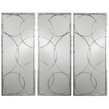 mirror wall decor circle panel: arteriors silver circle mirror panels  arteriors silver circle mirror panels