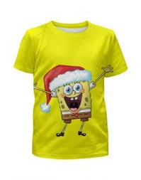 """<b>Детские футболки</b> c качественными принтами """"спанч боб"""" - <b>Printio</b>"""