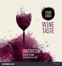 invitation template event party suitable tasting stock vector invitation template for event or party suitable for tasting events or wine presentation artistic